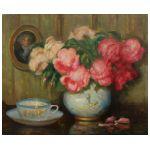 Edmund Homa (1927-2017) Róże w wazonie