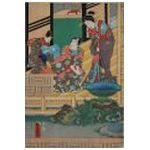 Utagawa Kunisada (1786-1864) Scena na tarasie