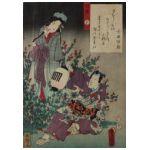 Utagawa Kunisada (1786-1865) Flet yokobue
