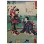 Utagawa Kunisada(1786-1865) Na moście
